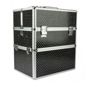 Kozmetický kufrík so ♡ čierny