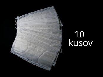Ochranné rúško - antibakteriálne so striebrom 10 kusov