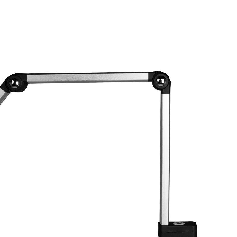 PRACOVNÁ LED LAMPA NA STÔL TD-003 STRIEBORNÁ