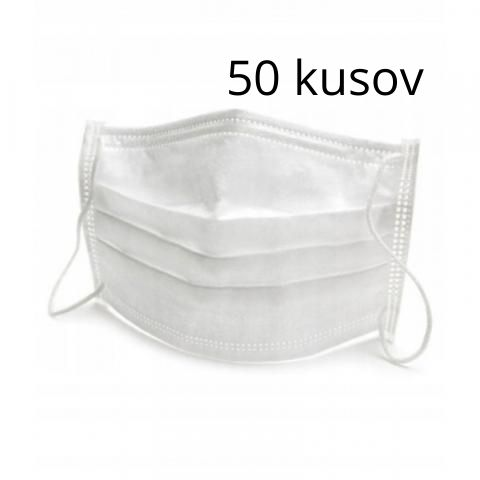 Ochranné rúško – antibakteriálne so striebrom 50 ks