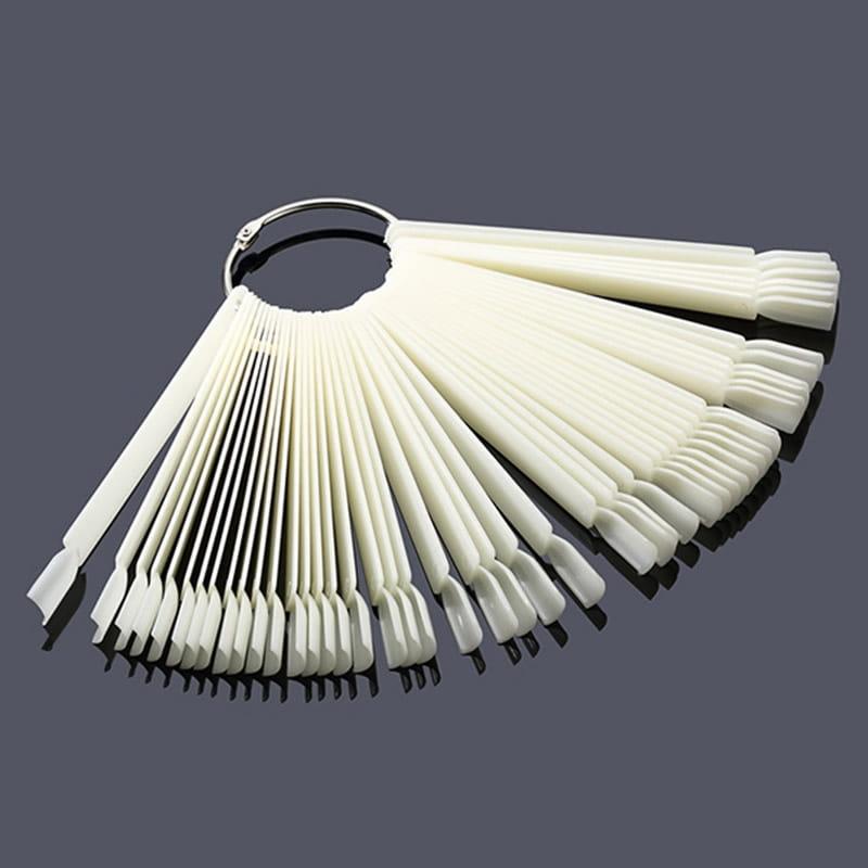 Vzorkovník na nechty na paličkách - 50 ks