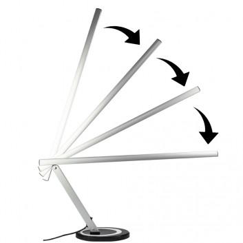 Stolová lampa LED SLIM strieborná 24W